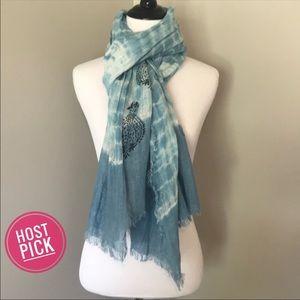 ☃️3/$20☃️ Blue Boho Tie Dyed Scarf
